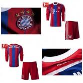 Maillots Enfant Kit Bayern Munich Ml 2014 2015 Domicile Shop France