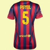 Maillots Femmes Barcelone (Carles Puyol 5) 2014-2015 Domicile Nike Pas Cher France