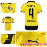 Maillots Foot Borussia Dortmund (Subotic 4) 2015/16 Domicile