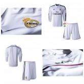 Maillots Foot Enfant Kit Real Madrid Ml 2014 2015 Domicile Soldes Paris