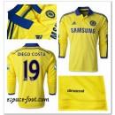 Maillots Manche Longue Chelsea Diego Costa 2014-15 Extérieur Vente Privee