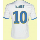 Maillots Marseille (André Ayew 10) 2014-2015 Domicile Adidas