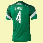 Maillots Mexique (Diego Reyes 4) 2014 World Cup Domicile En Ligne