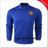 Manchester United Bleu N98 Veste Rabais En Ligne