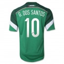 Mexique Maillot De Football Domicile Coupe Du Monde 2014 Adidas(10 G.Dos Santos) Escompte