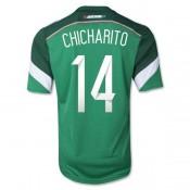 Mexique Maillot De Football Domicile Coupe Du Monde 2014 Adidas(14 Chicharito) Livraison Gratuite