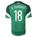 Mexique Maillot De Football Domicile Coupe Du Monde 2014 Adidas(18 A.Guardado) France Soldes