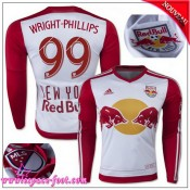 New York Red Bulls Maillot Foot Wright Phillips 2015 2016 Game Domicile Manche Longue Maillot Foot Wright Phillips 2015 2016