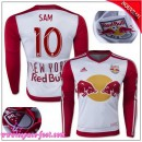 New York Red Bulls Maillot Sam 2015-2016 Game Domicile Manche Longue Maillot De Foot Sam 2015-2016