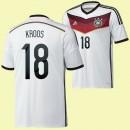 Nouveau Maillot De Foot (Kroos 18) Allemagne 2014 World Cup Domicile