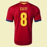 Nouveau Maillot De Football Espagne (Xavi 8) 2014 2015 Domicile Adidas Fr