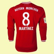 Nouveau Maillot Foot Manches Longues (Martinez 8) Bayern Munich 2014-2015 Domicile Adidas Soldes Pas Cher Nice