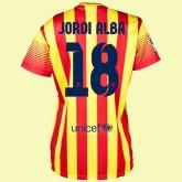 Nouveaux Maillot De Femme (Jordi Alba 18) Barcelone 2014 2015 Extérieur Avignon