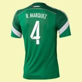Nouveaux Maillots Mexique (Rafael Márquez 4) 2014 World Cup Domicile Adidas Original