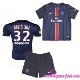 Paris Saint Germain Maillot Foot David Luiz Baby Kits 2015/2016 Game Domicile Maillots De Foot David Luiz 2015/2016 Pas Cher Provence