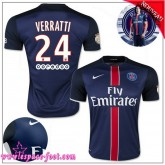 Paris Saint Germain Maillot Foot Verratti 2015/16 Game Domicile Maillots De Foot Verratti 2015/16