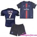 Paris Saint Germain Maillots Lucas Baby Kits 2015-2016 Game Domicile Maillots Foot Lucas 2015-2016 Rabais Paris
