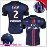 Paris Saint Germain Maillots T.Silva 2015 2016 Game Domicile Maillots Foot T.Silva 2015 2016