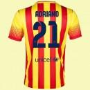 Personnalisé Maillot De Foot Fc Barcelone (Adriano 21) 15/16 Extérieur Nike Paris