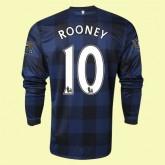 Personnalisé Maillot Football Manches Longues (Rooney 10) Manchester United 2014 2015 Extérieur Nike Personnaliser
