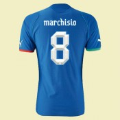 Personnaliser Maillot De Football Italie (Marchisio 8) 2014 2015 Domicile Puma Hot Sale