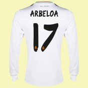 Personnaliser Maillots Manches Longues Real Madrid Fc (Arbeloa 17) 2015/16 Domicile Adidas Nouveau