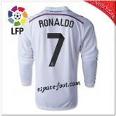 Ronaldo 7 Maillot De Foot Real Madrid Fc Domicile 2014/15 Manche Longue