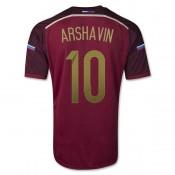 Russie Maillot De Football Domicile Coupe Du Monde 2014 Adidas(10 Arshavin) Magasin Lyon