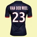 Solde Maillot De Football (Van Der Wiel 23) Psg 2014 2015 Domicile