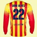 Tout Les Maillots Manches Longues (Dani Alves 22) Barcelone 2014 2015 Extérieur Pas Cher Paris