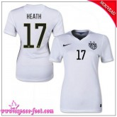 Uswnt Maillot Heath Femme 2015-16 Game Domicile Maillots De Foot Heath 2015-16