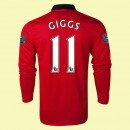 Vente Maillot De Foot Manches Longues (Giggs 11) Manchester United 2014 2015 Domicile