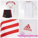 Vente Maillot Foot Manchester United Enfant Kits 2015/16 Extérieur